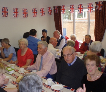 Afternoon Tea is enjoyed by all at the Tea dance